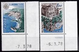 Cept, 1978, Monaco,  Mi.Nr.  1319/20, MNH **,  Europa: Baudenkmäler. - Europa-CEPT