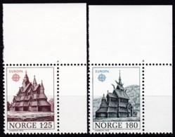 Cept, 1978, Norwegen,  Mi.Nr.  769/70, MNH **,  Europa: Baudenkmäler. - Europa-CEPT