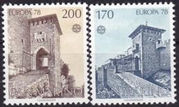 Cept, 1978, San Marino,  Mi.Nr.  1156/57, MNH **,  Europa: Baudenkmäler. - Europa-CEPT