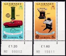 Cept, 1979, Guernsey,  Mi.Nr.  189/90, MNH **,  Europa: - 1979
