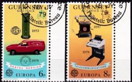Cept, 1979, Guernsey,  Mi.Nr.  189/90, Used Oo,  Europa: - Europa-CEPT