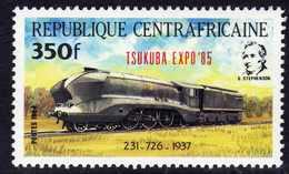 """Centrafricaine  N° 656 XX Timbre Surchargé """"Tsukuba Expo'85"""""""" Sans Charnière, TB - Centrafricaine (République)"""