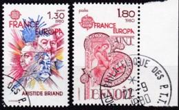 Cept, 1980, Frankreich,  Mi.Nr.  2202/03, Used Oo,  Europa: - Europa-CEPT