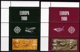 Cept, 1980, Malta,  Mi.Nr.  615/16, MNH **,  Europa: - Europa-CEPT