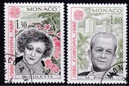 Cept, 1980, Monaco,  Mi.Nr.  1421/22, Used Oo,  Europa: - Europa-CEPT