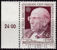 Cept, 1980, Österreich,  Mi.Nr.  1652, Used Oo,  Europa: - Europa-CEPT