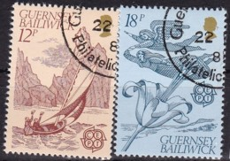 Cept, 1981, Guernsey,  Mi.Nr.  223/24, Used Oo,  Europa - Europa-CEPT