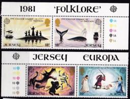 Cept, 1981, Jersey,  Mi.Nr.  253/54, MNH **, Europa - Europa-CEPT