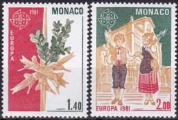 Cept, 1981, Monaco,  Mi.Nr.  1473/74, MNH **,  Europa: - Europa-CEPT