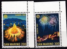 Cept, 1981, San Marino,  Mi.Nr.  1225/26, MNH **,  Europa: - Europa-CEPT