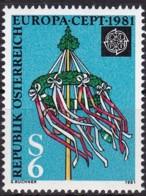 Cept, 1981, Österreich,  Mi.Nr.  1671, MNH **, Europa - Europa-CEPT