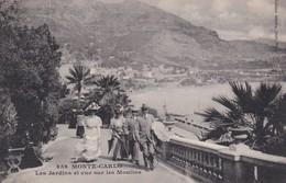 Monaco Monte Carlo Les Jardins Et Vue Sur Les Moulins - Sonstige