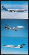 3 KAARTEN OLYMPIC AIRWAY  3 X BOEING 727 - 200 - 1946-....: Ere Moderne