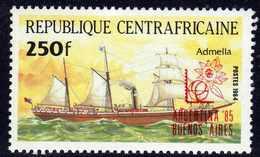 """Centrafricaine  N° 657 XX Timbre Surchargé """"Argentina'85"""""""" Sans Charnière, TB - Centrafricaine (République)"""