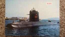 CPSM  BATEAU DE GUERRE SOUS MARIN RUBIS ED LEO 414 - Sous-marins