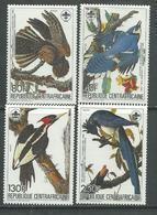 Centrafricaine  N° 662 / 65 XX Bicentenaire De La Naissance D'Audubon, La Série Des 4 Valeurs Sans Charnière, TB - Centrafricaine (République)