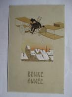 GARCON  SUR  AVION  -  BONNE  ANNEE       GAUFFRE            TTB - Illustrateurs & Photographes
