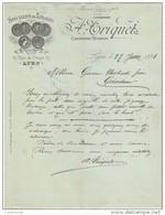 69 LYON FACTURE 1891 Spécialité De TISSAGES A. TRIQUET    - H2 - 1800 – 1899