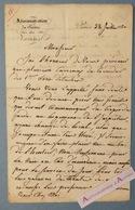 L.A.S 1830 Théâtre Des Variétés à Paris Signée Gibert (inspecteur) - Carreaux Corridor - Lettre Autographe LAS - Autographes