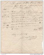 21 CHOREY LES BEAUNE FACTURE 1855 Tonnelier BARD   - JV11 - 1800 – 1899