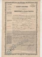 1897 - CERTIFICAT DE BONNE CONDUITE 93e REGIMENT D'INFANTERIE LA ROCHE SUR YON VENDEE - Documenti