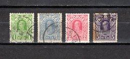 Noruega  1911-19  .-   Y&T  Nº      84/87    (  87  óxido  ) - Gebraucht