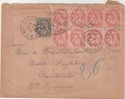 FRANCE : TYPE BLANC . AFFrt à 25 Cts . DONT 8 EX DU 3 Cts . ( PLI ) . 1920 . - Marcofilia (sobres)