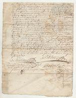 1696 Loire Chuyer Ecotay - Manuscrits