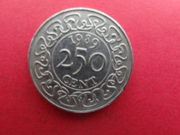 Suriname  250 Cents  1989  Km 24 - Surinam 1975 - ...