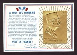 France   1977 -   Le 5e Anniversaire Du Général De Gaulle Memoriale - Or 24 Carats - 1970-79