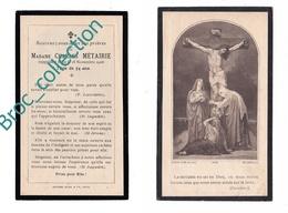 Mémento De Mme Charles Métaire, 18/11/1906, 74 Ans, Souvenir Mortuaire à Localiser, Décès, Deuil - Images Religieuses