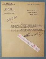 Lettre 1929 Henri VARNA - Théâtre PALACE & EMPIRE Sketch Charles ETIENNE - Comédien Né Marseille - Signature Autographe - Autographes