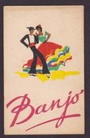 Carte Parfumée Parfum Publicité Publicitaire BANJO 5,2 X 8,2 - Oud (tot 1960)