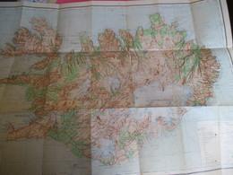 Grande Carte D'ISLANDE/ Islands Reykjavik/Island Upp Drattur Ferdafelags Islands/1966   PGC318 - Bücher, Zeitschriften, Comics
