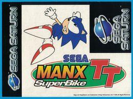 AUTOCOLLANT SEGA MANX TT SUPER BIKE 1996 SEGA SATURN - Pegatinas