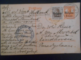 Belgique Guerre 14-18, Carte De Strombeek 1918 Pour Eindhoven - [OC1/25] General Gov.