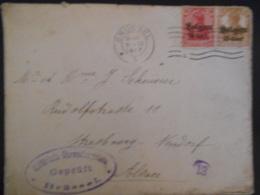 Belgique Guerre 14-18, Lettre De Brussel  1917 Pour Strasbourg En L Etat - [OC1/25] General Gov.