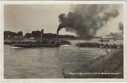 68   Vapeur Du Rhin Passant Le Pont De Bateaux De Huningue - Frankreich