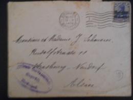 Belgique Guerre 14-18, Lettre De Bruxelles 1916 Pour Strasbourg En L Etat - WW I