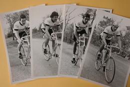 CYCLISME: CYCLISTE :4 PHOTOS PEUGEOT KODAK Format 12 X 18 - Cyclisme