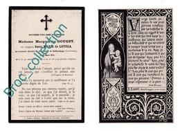 Bofferdange, Mémento De Marguerite Gouget, Soeur Marie De Loyola, 20/03/1910, 48 Ans, Religieuse, Décès, Deuil - Images Religieuses