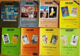 Lot 12 Catalogues Neudin Catalogue 1977 1978 1979 1980 1981 1982 1983 1984 1988 1989 1990 1995 Cotation Cartes Postales - Livres