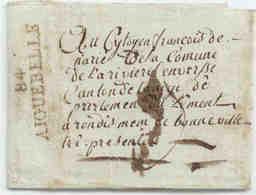 Savoie Departement Du Mont Blanc 84 AIGUEBELLE 1804 Avec Contenu. - 1792-1815: Dipartimenti Conquistati