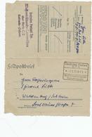 DDW596 - Feldpostbrief 2 Cachets Deutsches Postamt SPA  Waffenstillstands Kommission 7.1.19 - Vers WALDENBURG - WW I
