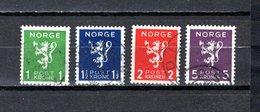 Noruega  1940  .-   Y&T  Nº      203/206 - Oblitérés