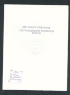 Gabun Goldfolie  Apollo 346 In Numerierten Gedenkblatt......   ( Zu2796  ) Siehe Scan - Briefe U. Dokumente