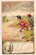 CHROMO Illustrée - Le Cerf Volant De BENJAMIN FRANKLIN - Histoire