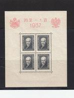 Pologne 1937 Yvert BF 4 ** Neuf Sans Charnière Visite Roi Carol De Roumanie. (2645x) - Blocks & Sheetlets & Panes