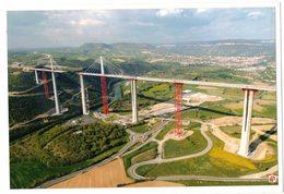 VERITABLE PHOTO CONSTRUCTION VIADUC DE MILLAU DESIGNER FOSTER AND PARTNERS CEVM.DANIEL JAMME ARCHITECTURE OUVRAGE D'ART - Lieux