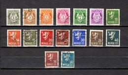 Noruega  1941  .-   Y&T  Nº      220/235 - Oblitérés